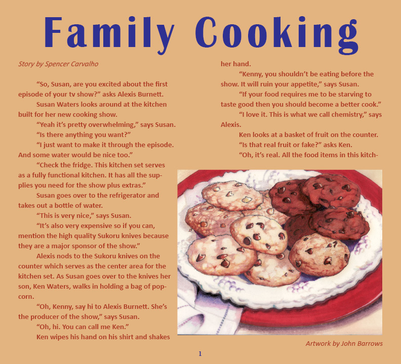 family cooking story by spencer carvalho artwork by john